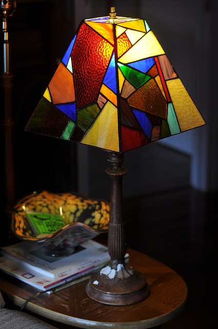 Stained Glass Wall Lamp Shades : Stained Glass Lamp Shade Springhouse