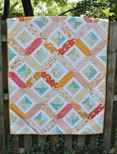 Double crossed quilt front