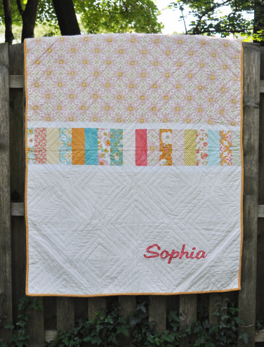 Double crossed quilt back