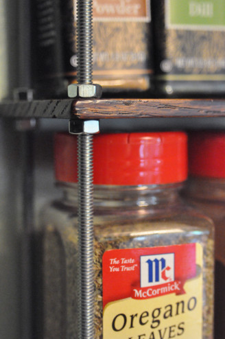 Spice rack detail