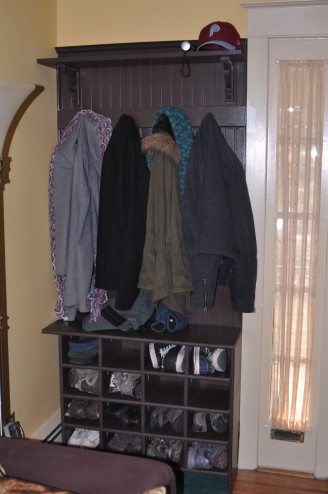 Coat rack + shoe storage