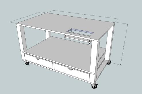 Craft table - blue print